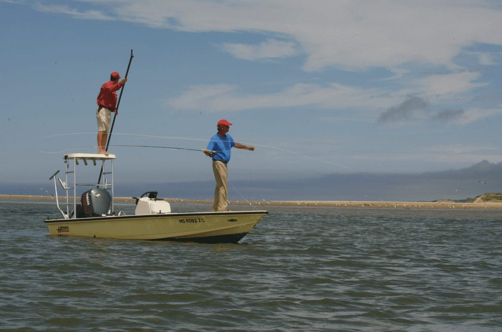 Cape Cod Flats Fly Fishing for Striped Bass