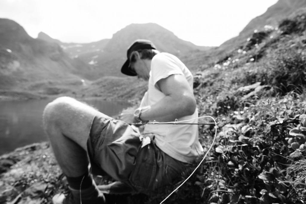 Hunting Namaycush at an Alpine Lake