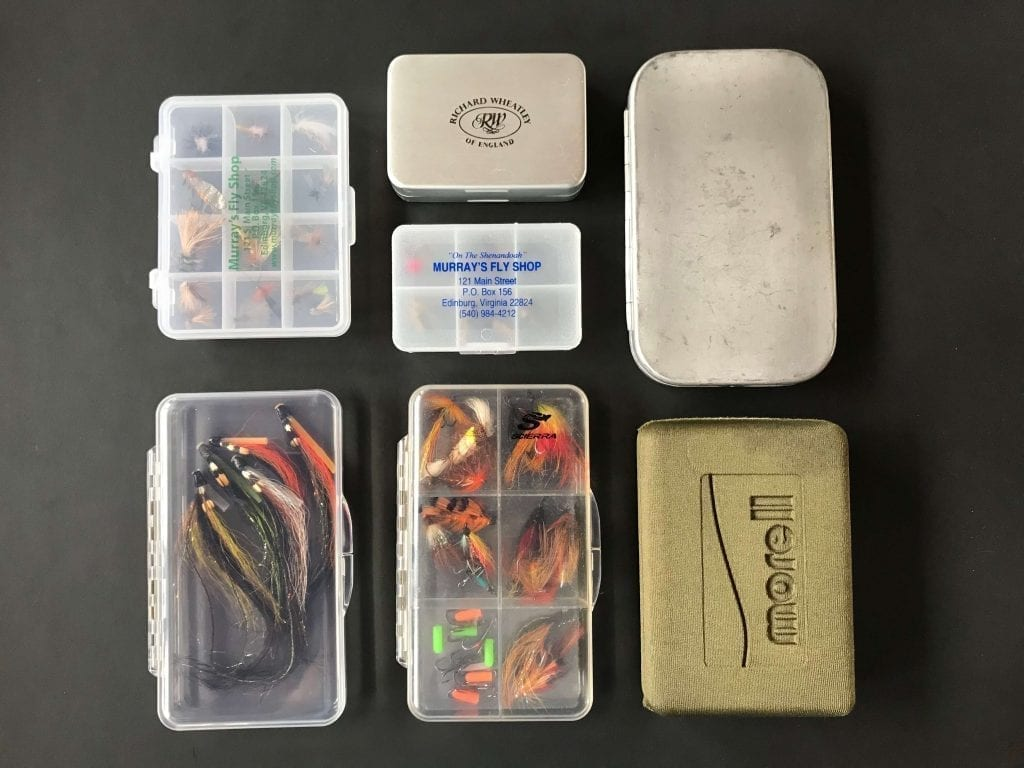 Flybox: Selection of different fly cases to store your fly fishing flies