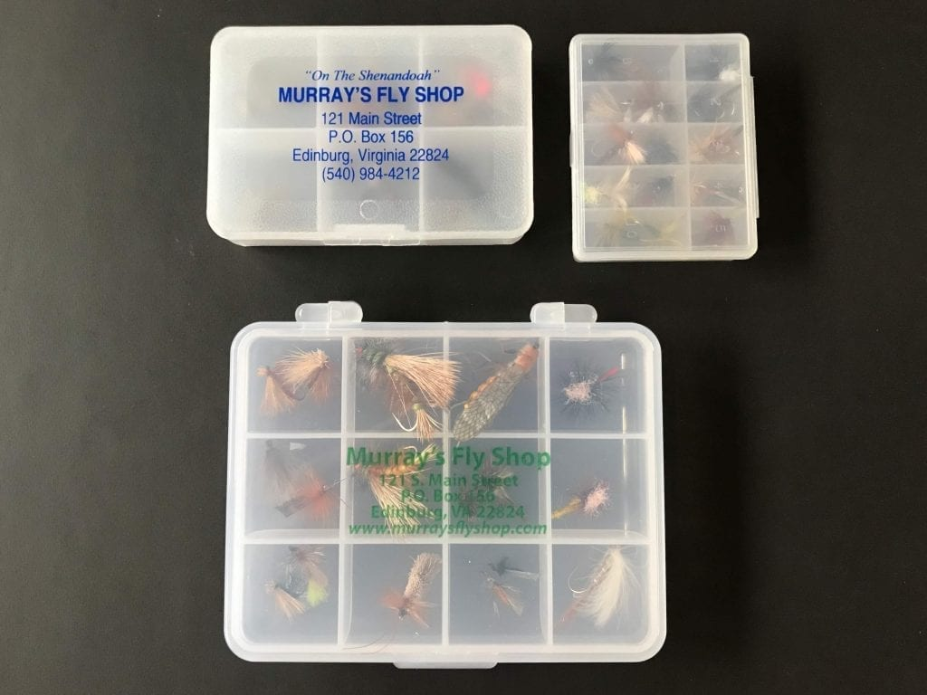 Multiple fly cases to store dry flies