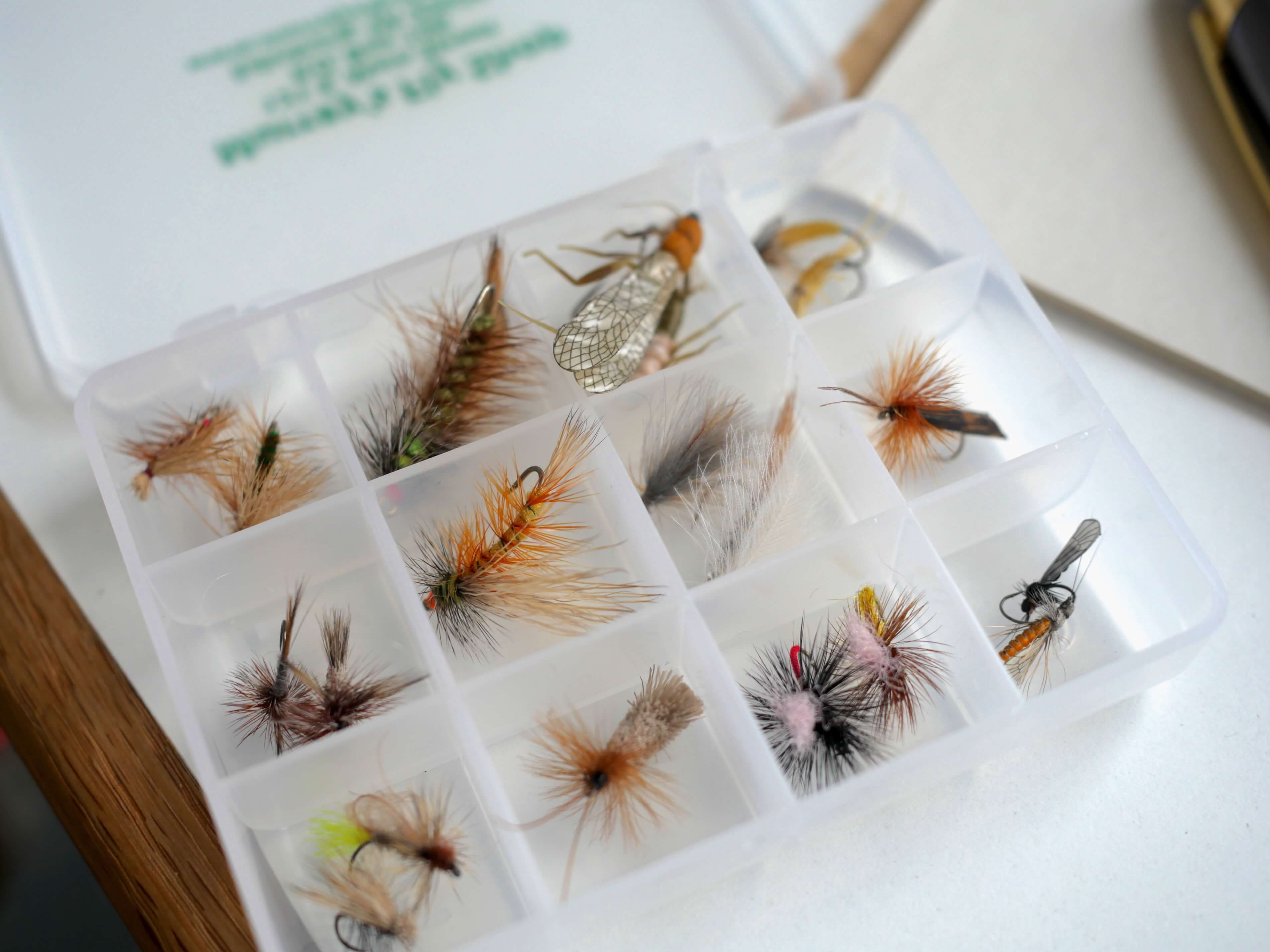 Dry Fly Box with Flies
