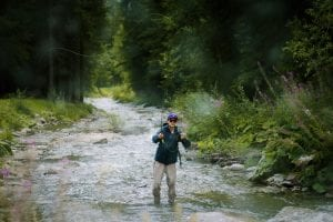 Casting upstream for marble trout