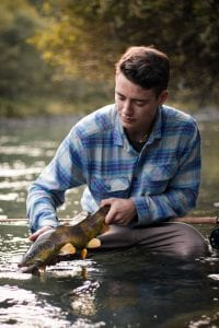 Marble trout in South Tyrol