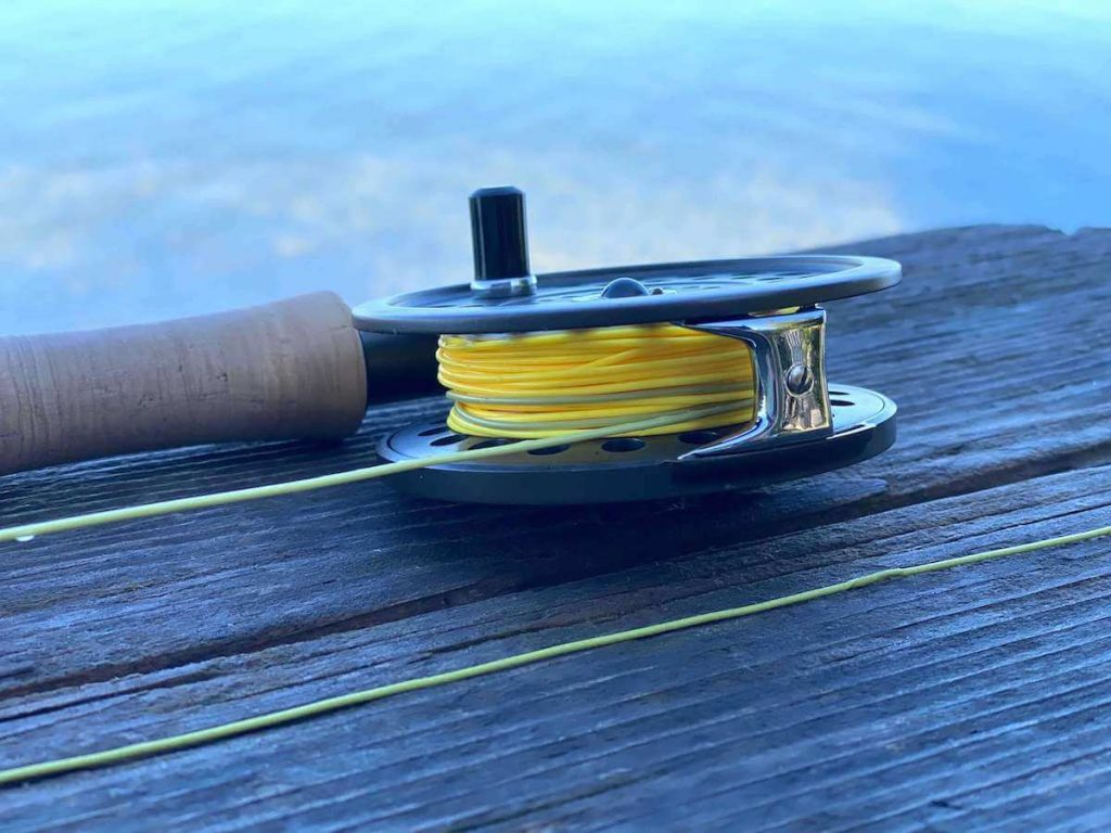 Elite Rio Gold Fly Line on Fly Reel