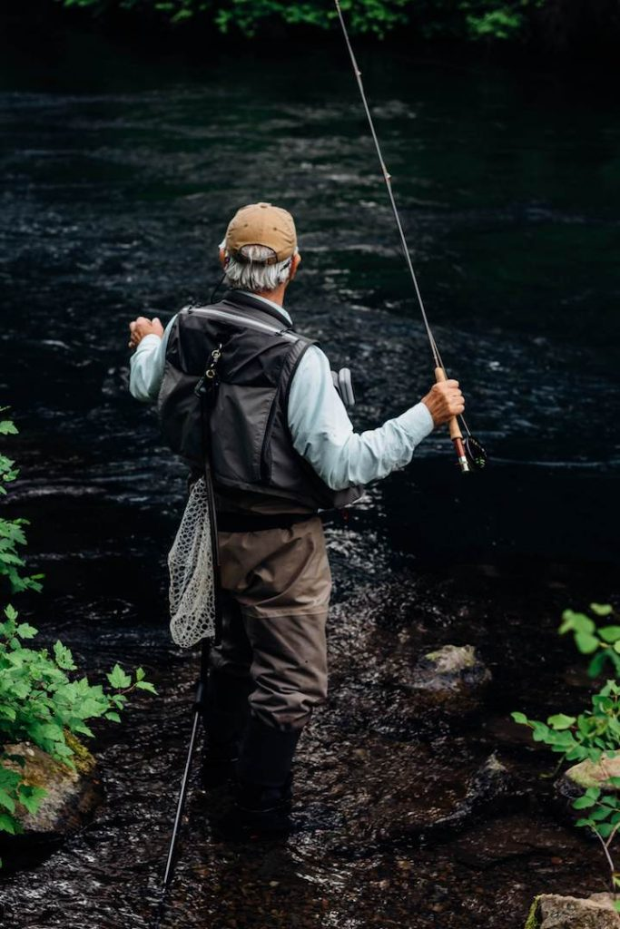 What is Fly Fishing? Fly Fisherman in River