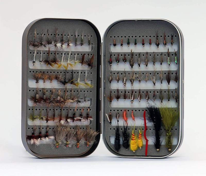 Barnsley Fly Box + 100 Assorted Fly Fishing Fly Kit