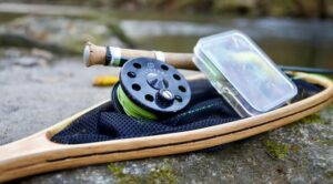 Fly rod, reel and net