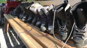 Wading Boots on a bench