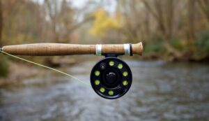 A fly rood with a fly reel