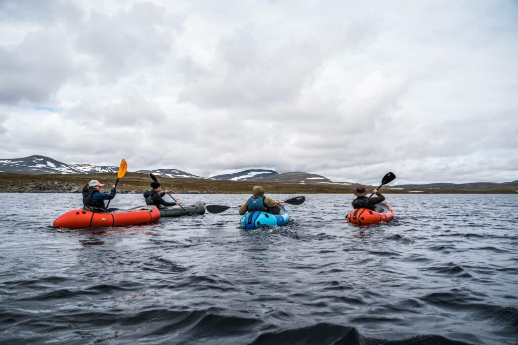 Floating around in a river fishing finnmark