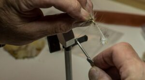 Tying a Fly in a fly tying vise