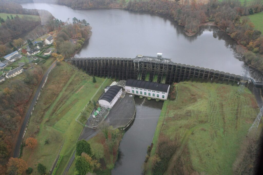 Dam on the Selune River, France