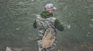 Fly fisherman standing in the water