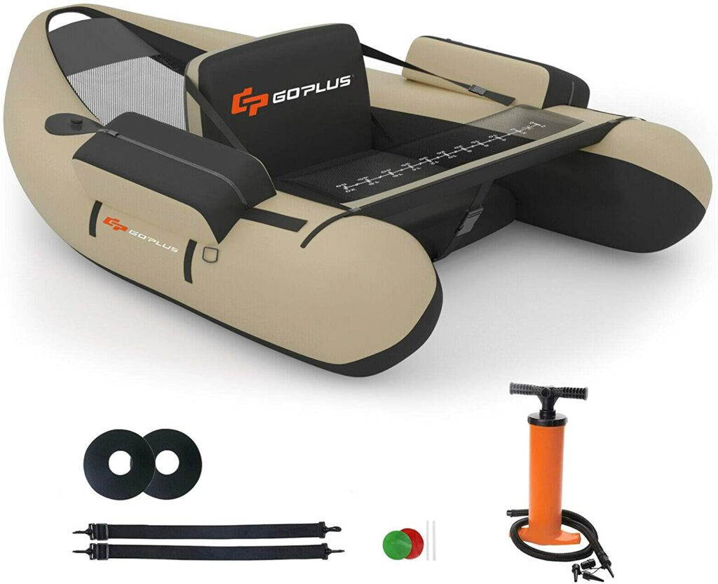 Goplus Inflatable Fishing Float Tube Belly Boat