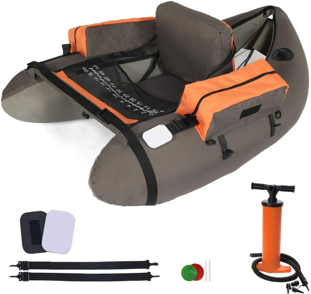 LAZZO Inflatable Fishing Float Tube Belly Boat