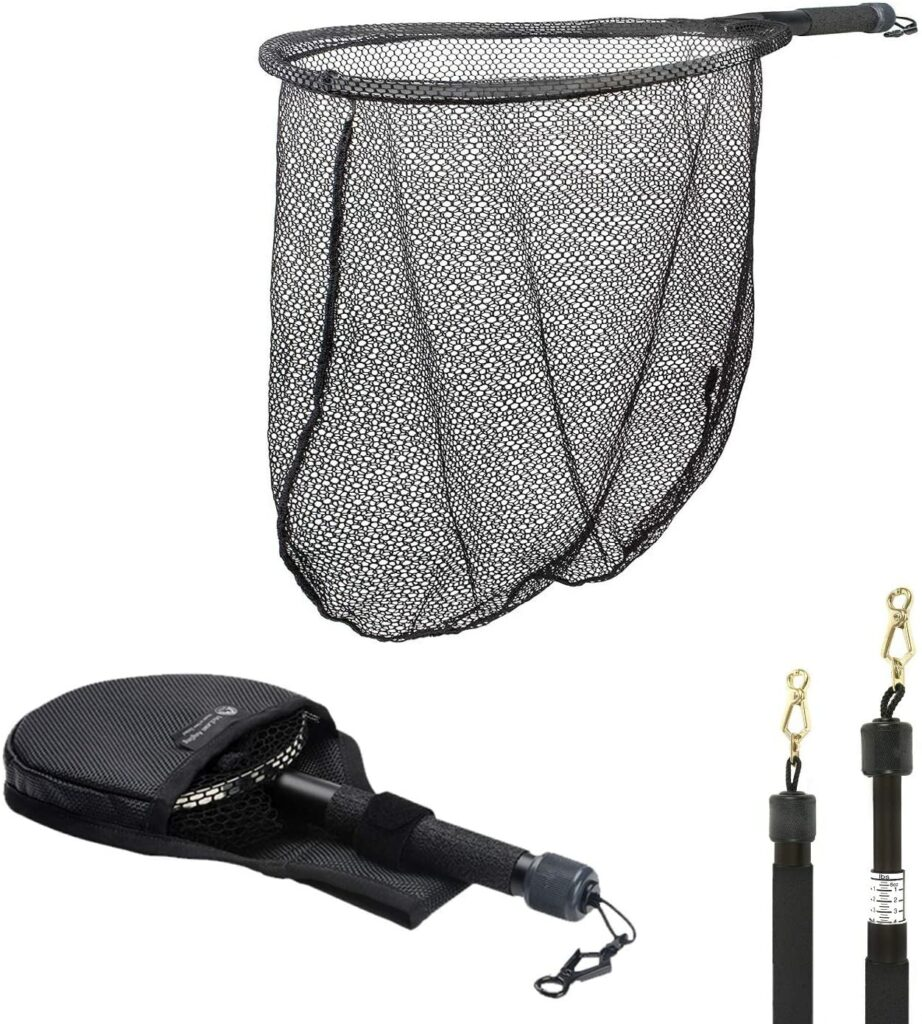McLean Angling Spring Foldable Travel Weigh Freshwater Small Landing Net