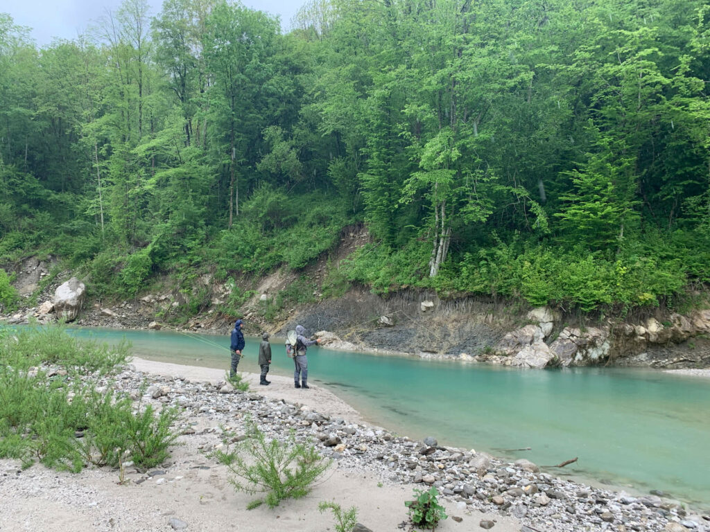 Fly fishing Slovenia for marble trout