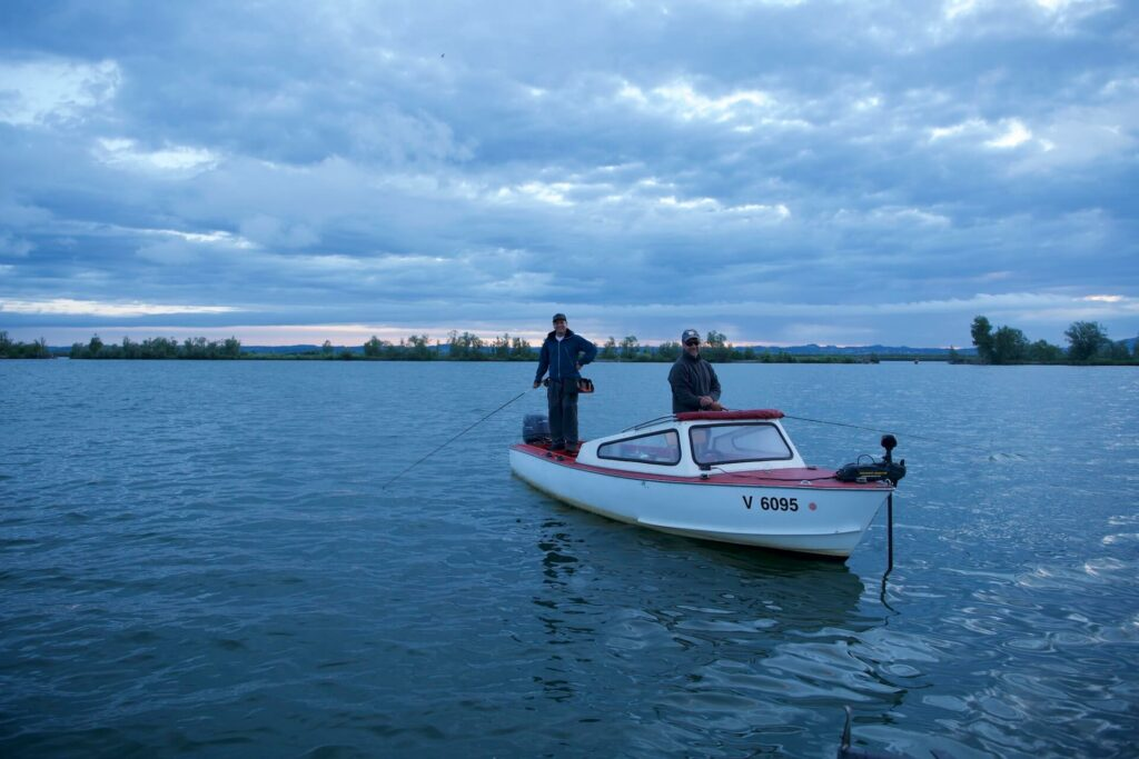 Claus Elmenreich fly fishing the Lake Constance