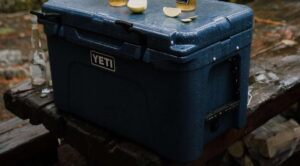 Yeti Tundra with beers on it