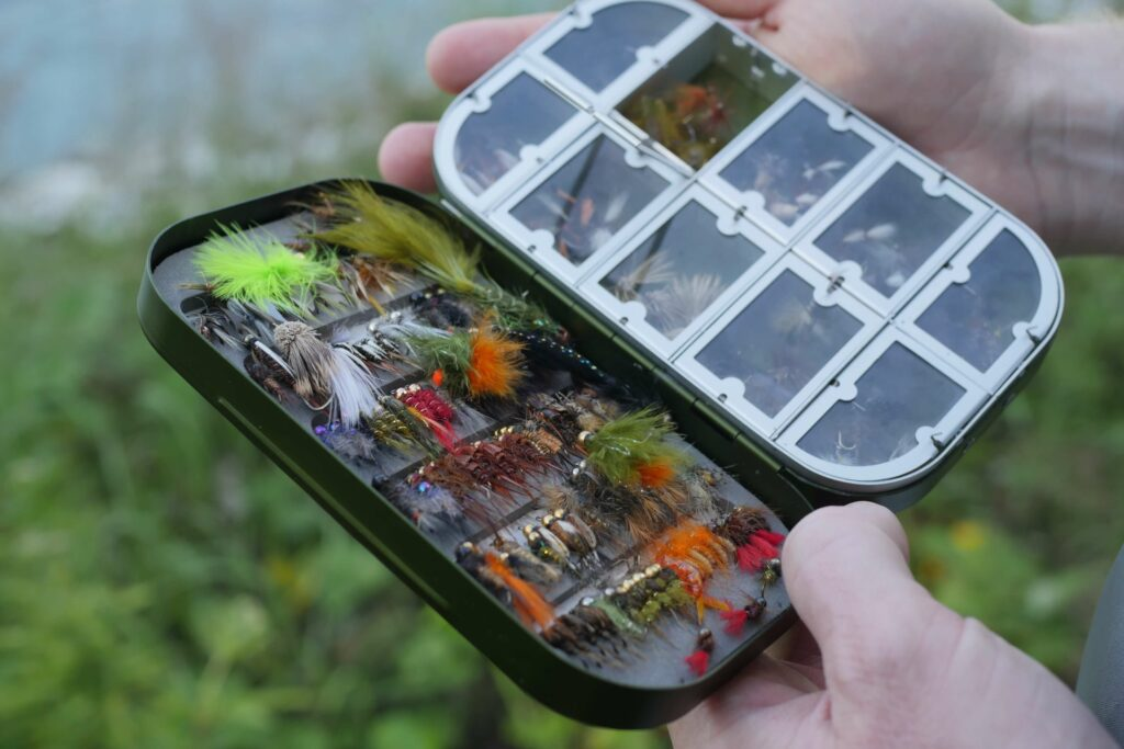 fly box with flies