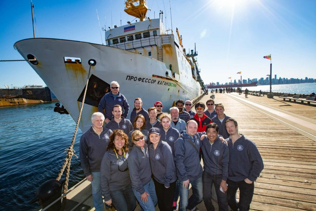The 2019 Gulf of Alaska Expedition Scientific Team from Canada, Japan, the Republic of Korea, the Russian Federation, and the United States upon the successful completion of the International Gulf of Alaska Expedition in Vancouver, BC, Canada, February 16–March 18, 2019